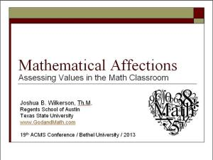 math affections