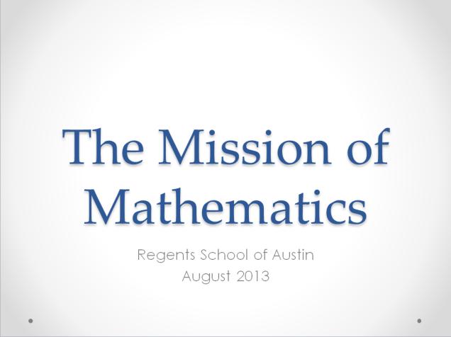 mission math